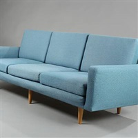 free-standing three-seater sofa by harbo solvsteen