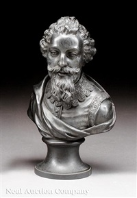 bust of elizabethan dramatist francis beaumont by wedgwood
