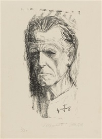 selbstbildnis ii 1948 by otto dix