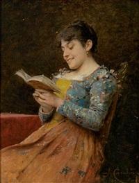 lesende junge frau amüsiert sich by adriano cecchi