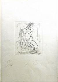 nudo - nude by lucio fontana