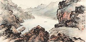 峡港归渔 by li xiongcai