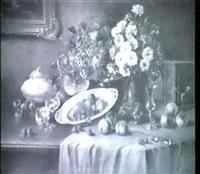 grosses stilleben mit fruchten by franz sablitzky