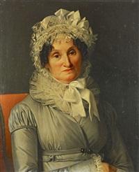 portrait de mme schüler - ba(?)t by jean francois léonor merimee