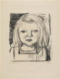 kind ii (tochter bienert, blick auf den betrachter gerichtet) 1949 by otto dix