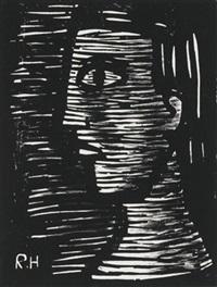 frauenkopf im profil by richard haizmann