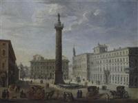 römische vedute mit der trajanssäule by giacomo van (monsù studio) lint