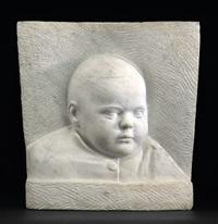 brustbild eines kleinen jungen by karl e. rasmussen