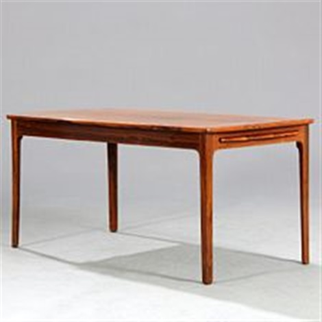 Rectangular Brazilian Rosewood Coffee Table With Slightly Tapering Profiled Legs By Ole Wanscher On Artnet