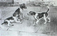 belvoir hound puppies by john theodore eardley kenney