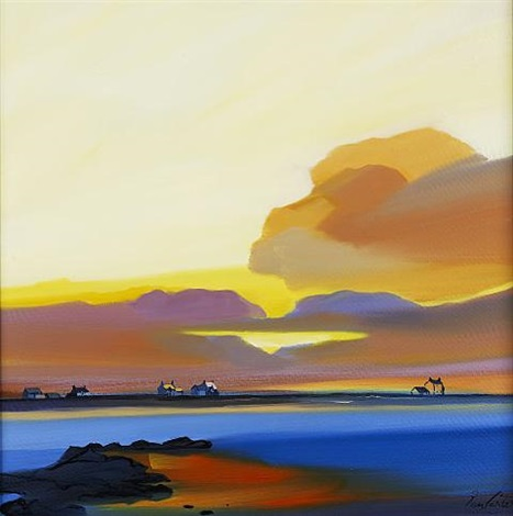 tiree sunset by pam carter