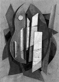 kubistische komposition mit gitarre by issaak moisseievitch rabinovitch