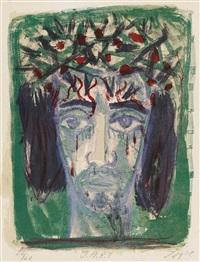 i.n.r.i. (christuskopf von vorn) 1962 by otto dix