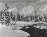 landscape in the sierra nevada by richard kruger