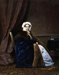 portrait von der anna platen by gerasim ignatevich kadunov