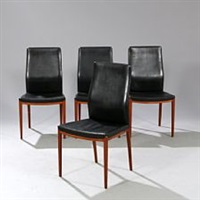 hhigh back chairs (set of 4) by helge vestergaard jensen
