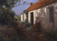 outside the cottage by george davidson