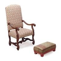 armchair (+ footstool; 2 works) by ralph lauren