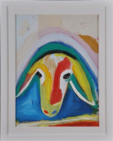 portrait of a sheep by menashe kadishman