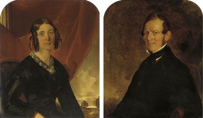 portrait of a lady portrait of a gentleman pair by miller