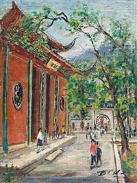 古寺红门 by lin dachuan