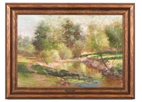 landscape with brook by john elwood bundy