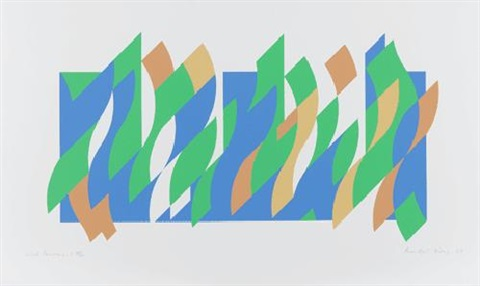 wall painting 1 by bridget riley