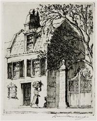 the pink house, charleston s.c. by leon rene pescheret