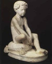 jeune garcon assis by francois jouffroy