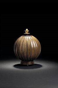lid vase by arno malinowsky and knud andersen