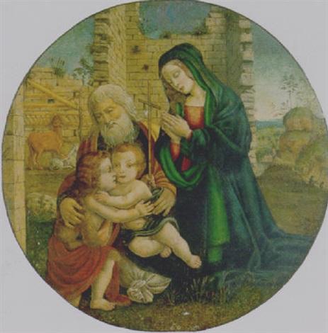 sacra famiglia con san giovannino by filippo filippino lippi