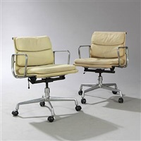softpad chairs (pair)` by charles eames
