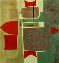 abstract composition by stanley bate