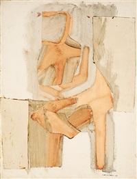 sitzende figur by conrad marca-relli