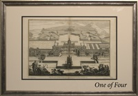 architectural renderings of royal buildings (suite of 5) by colen campbell