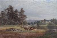 landskap med kuer by christian rummelhoff