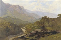 lakeland landscape with tree beside a river by edward henry holder