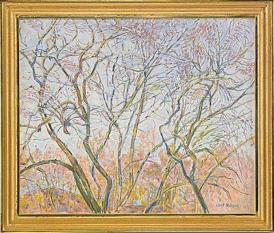 trädformer mot vårhimmel by axel nilsson