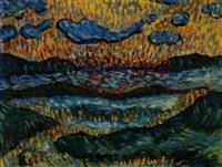 lofotenküste im abendlicht by alfred hellberger