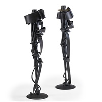 tall candlesticks (2 works) by albert paley