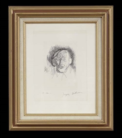 portrait by jacques villon