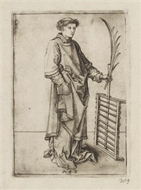 der heilige laurentius by martin schongauer