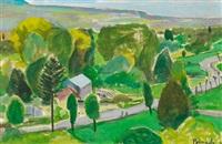 landscape with houses, vitteaux (bourgogne) by joaquín peinado