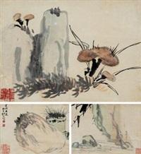 册页小品 (三帧) (album of 3) by ren bonian