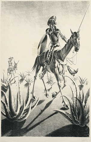 don quijote und sancho panza by georg scholz
