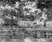 blick über den main zum frankfurter dom by wilhelm runze