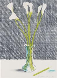 lillies (stillife) by david hockney