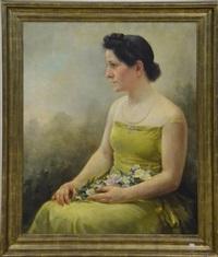 portrait de dame by george van raemdonck