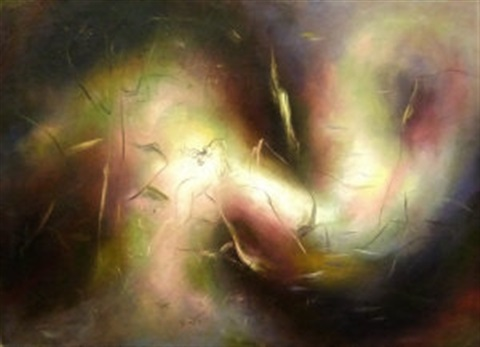 dancing nymph in a dream landscape by giorgios gounaro gounaropoulos