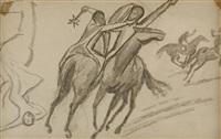 reiter und pferde by august macke